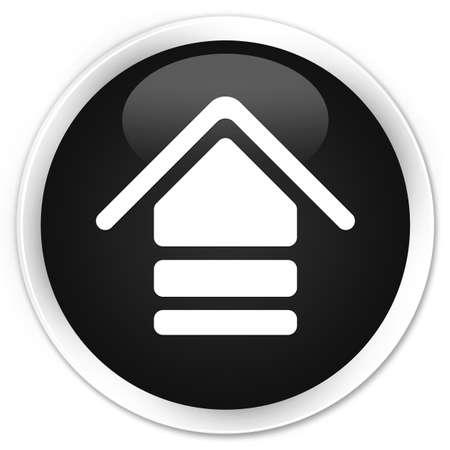 upload: Upload icon black glossy round button Stock Photo