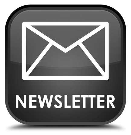 black: Newsletter black square button