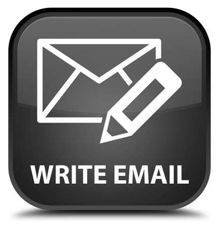 black button: Write email black square button