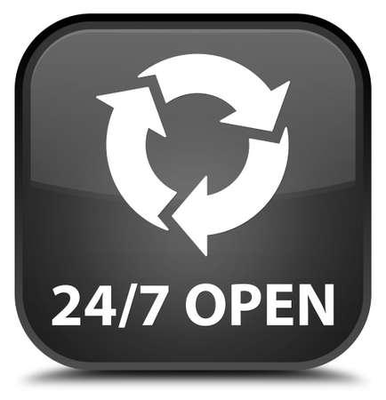 square button: 247 open black square button