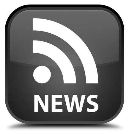 rss icon: News (RSS icon) black square button
