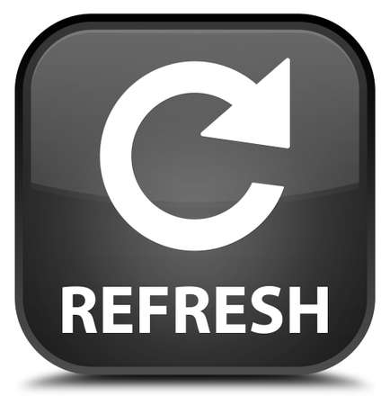rotate: Refresh (rotate arrow icon) black square button