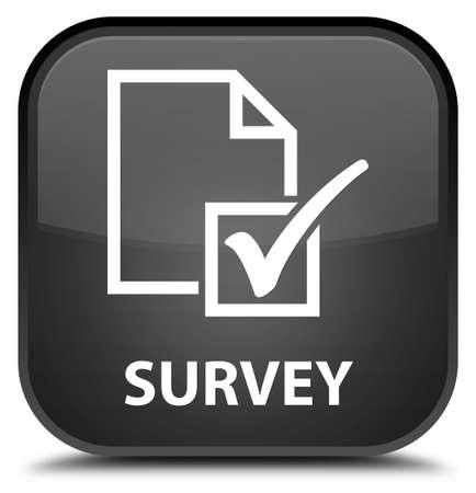 black: Survey black square button