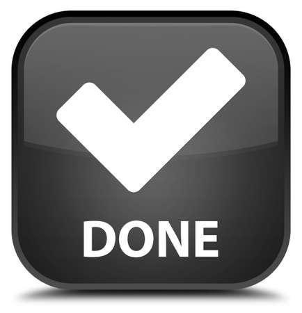 done: Done (validate icon) black square button