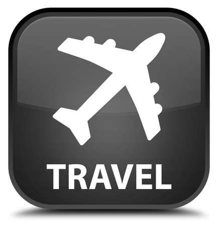 airway: Travel (plane icon) black square button