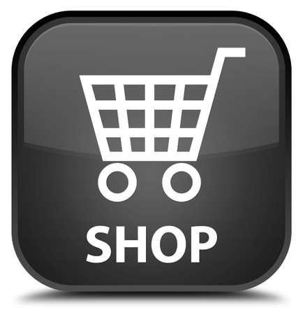 black: Shop black square button