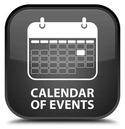 schedule appointment: Calendar of events black square button