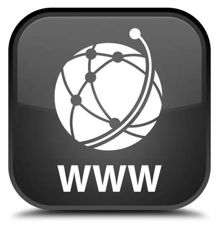 WWW (global network icon) black square button