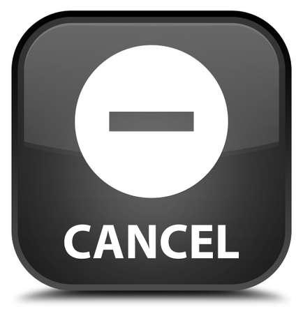 black: Cancel black square button