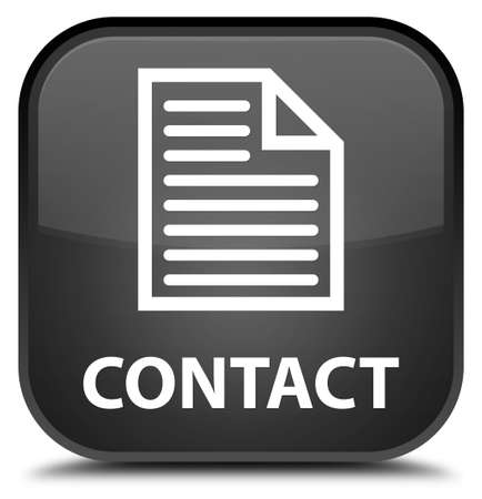 directory book: Contact (page icon) black square button