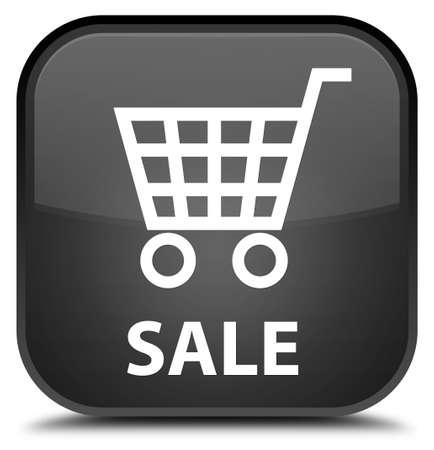 black: Sale black square button