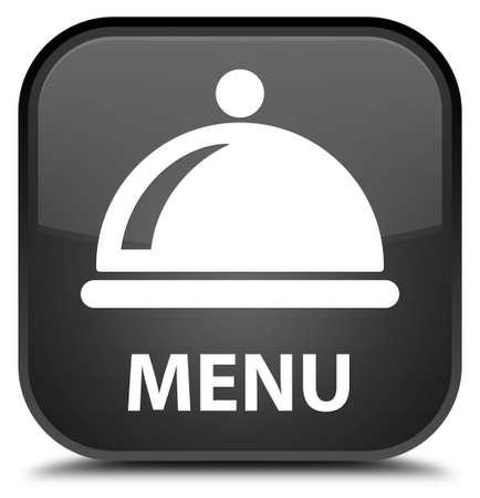cater: Menu (food dish icon) black square button