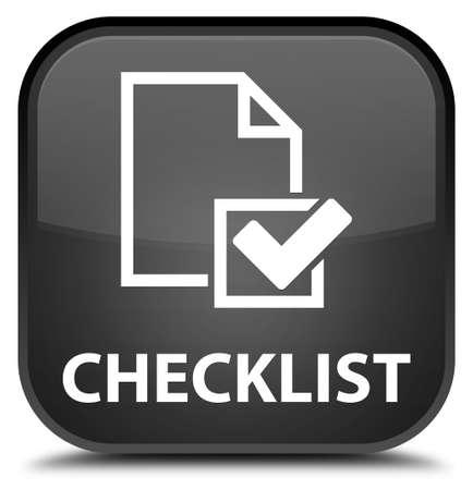 positive note: Checklist black square button Stock Photo