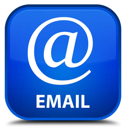 email address: Email (address icon) blue square button Stock Photo