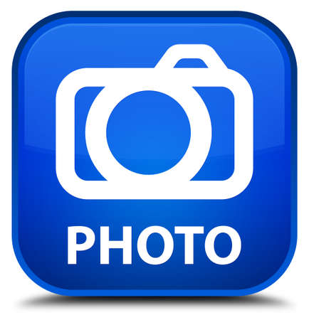 digital camera: Photo (camera icon) blue square button
