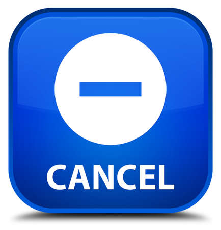 cancel: Cancel blue square button