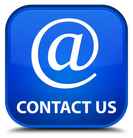 email address: Contact us (email address icon) blue square button
