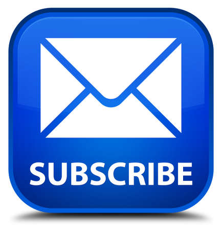 news letter: Subscribe (email icon) blue square button