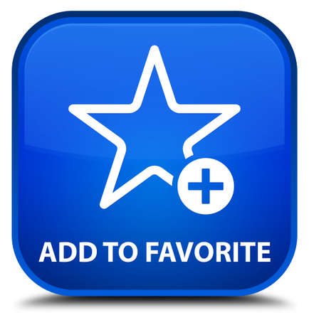 value add: Add to favorite blue square button