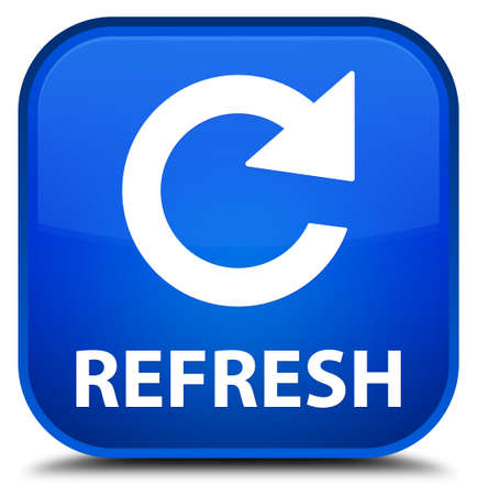 rotate: Refresh (rotate arrow icon) blue square button