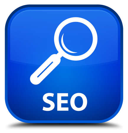 focus on shadow: Seo blue square button