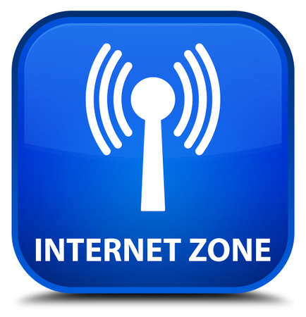 wlan: Internet zone (wlan network) blue square button