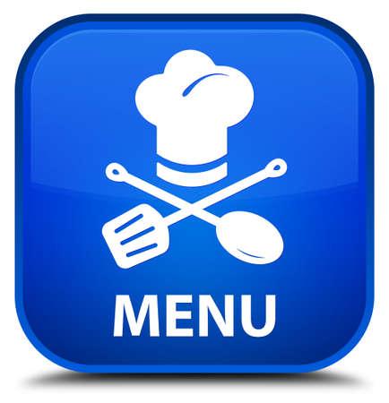 cater: Menu (restaurant icon) blue square button