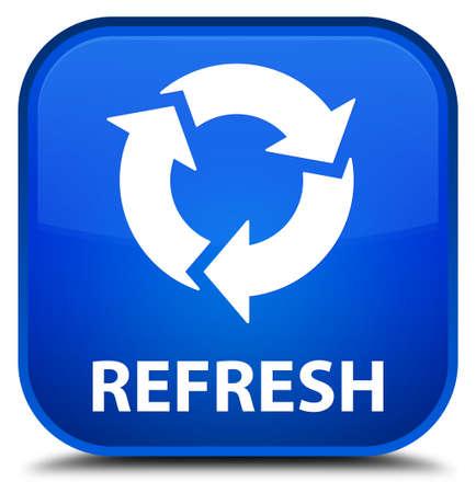 refrescar: Actualiza botón cuadrado azul