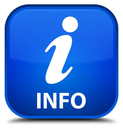 informing: Info blue square button
