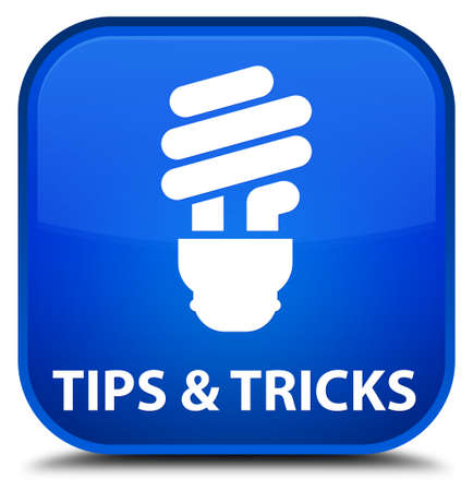 blue bulb: Tips and tricks (bulb icon) blue square button