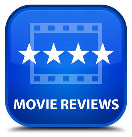 reviews: Movie reviews blue square button