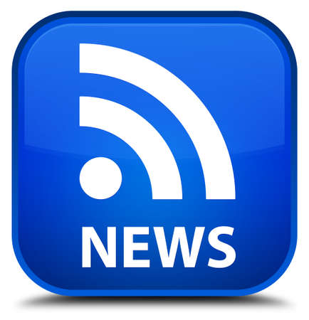 rss icon: News (RSS icon) blue square button