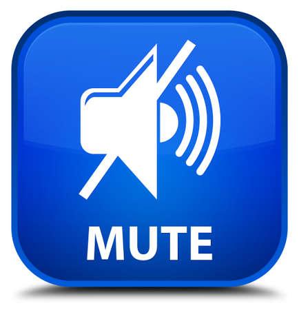 mute: Mute blue square button