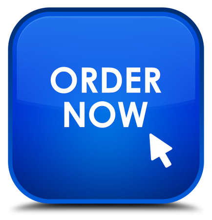 order now: Order now blue square button