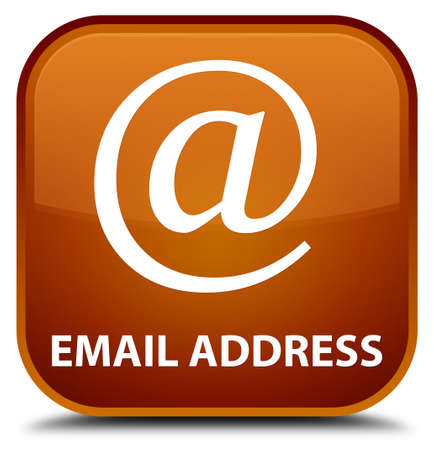 email address: Email address brown square button