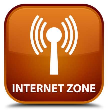 wlan: Internet zone (wlan network) brown square button