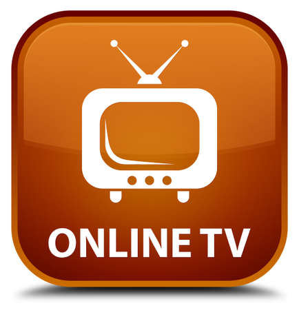 tuner: Online tv brown square button