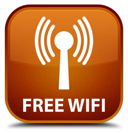 wlan: Free wifi (wlan network) brown square button