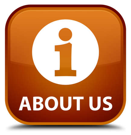 'about us': About us brown square button