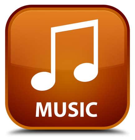 tune: Music (tune icon) brown square button