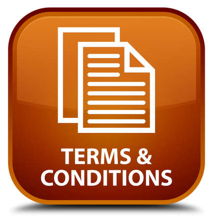 conditions: Terms and conditions (pages icon) brown square button