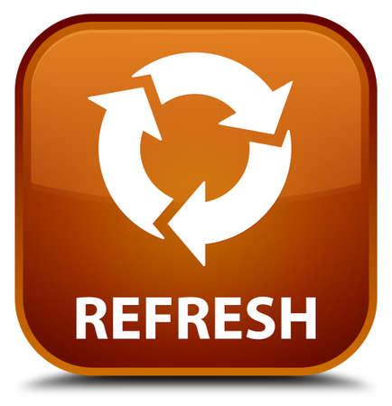 refresh button: Refresh brown square button Stock Photo