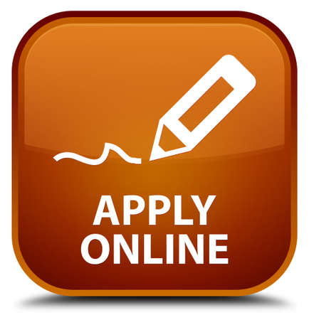 apply: Apply online (edit pen icon) brown square button