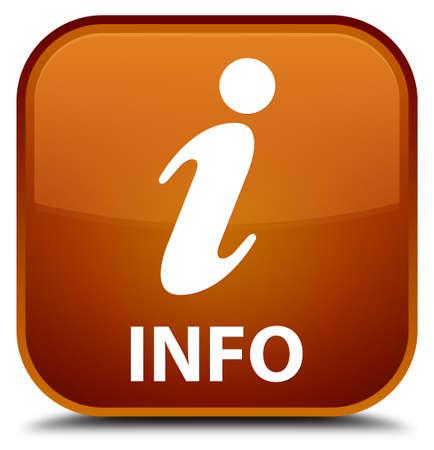 inquiry: Info brown square button Stock Photo