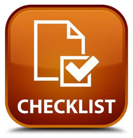 valid: Checklist brown square button