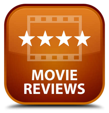 reviews: Movie reviews brown square button