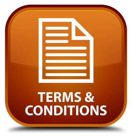 information technology law: Terms and conditions (page icon) brown square button
