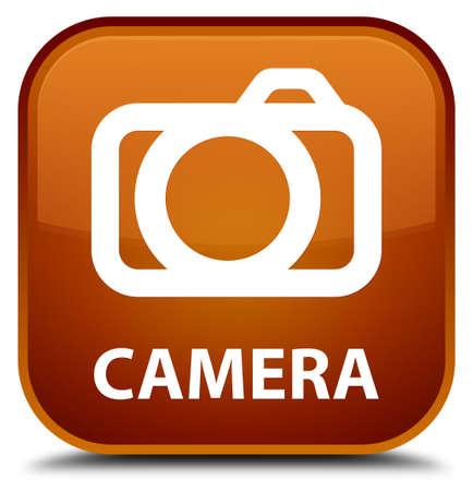 Camera brown square button