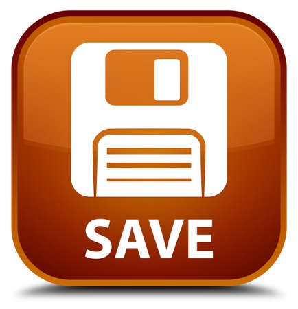 square button: Save (floppy disk icon) brown square button