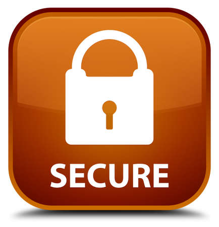 secure: Secure (padlock icon) brown square button